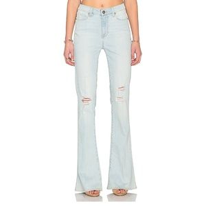 Paige High Rise Lou Lou Flare in Lainey Destructed